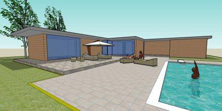 Progetto di casa al mare ispirata dallo stile anni u di for Progetti di casa fantastici